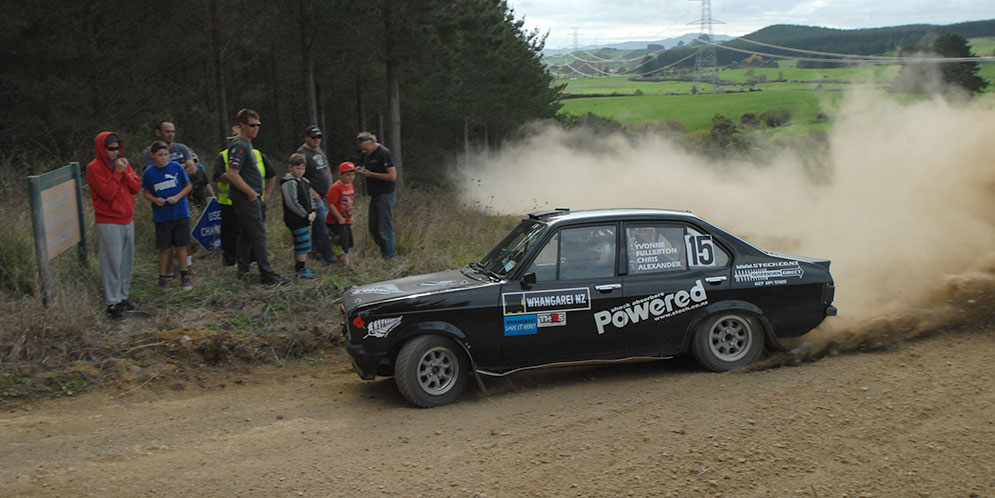Chris Alexander, seen here in his MK2 Escort at Maramarua forest.